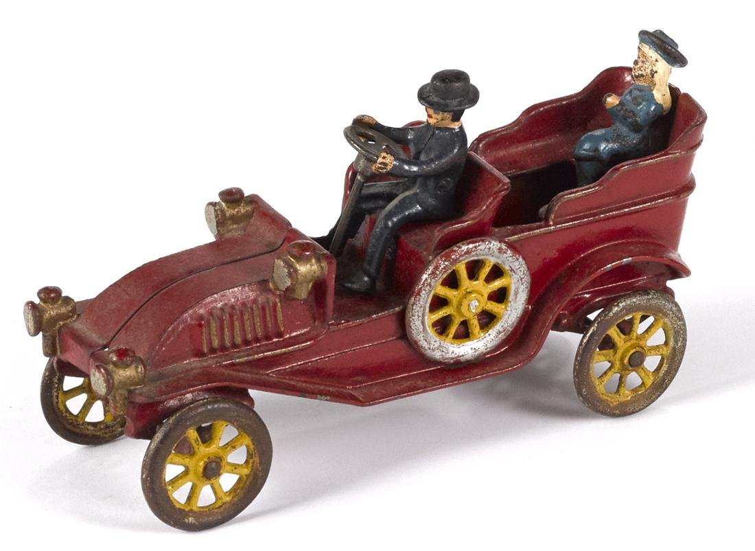 Kenton cast iron touring car with a painted driver and