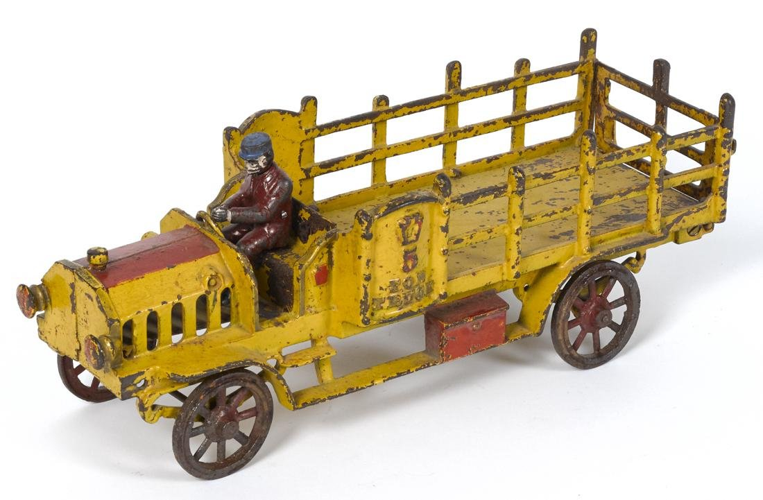 Hubley cast iron 5 Ton stake truck with a painted
