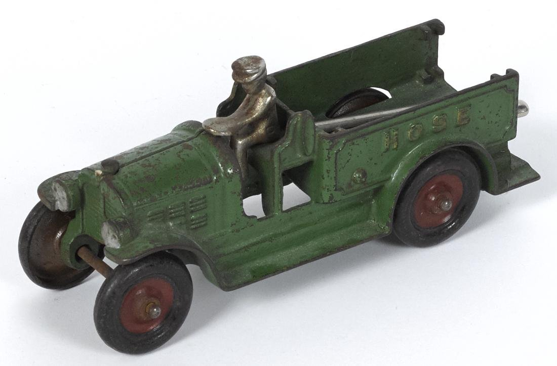 Kenton cast iron Hose truck with a nickel-plated driver