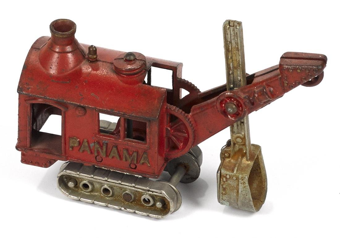 Hubley cast iron Panama steam shovel truck with a