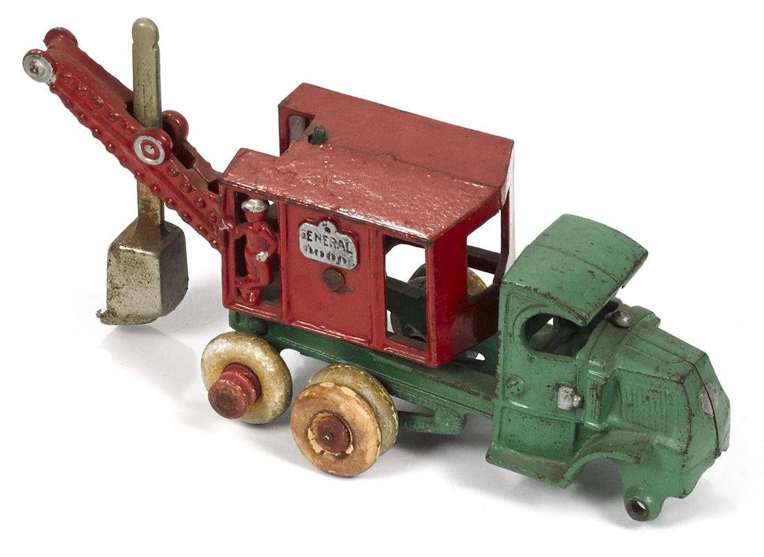 Hubley cast iron General steam shovel truck with a
