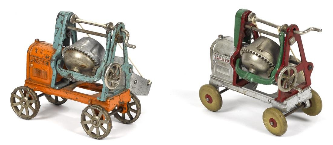 Two Kenton cast iron Jaeger cement mixers with - 2