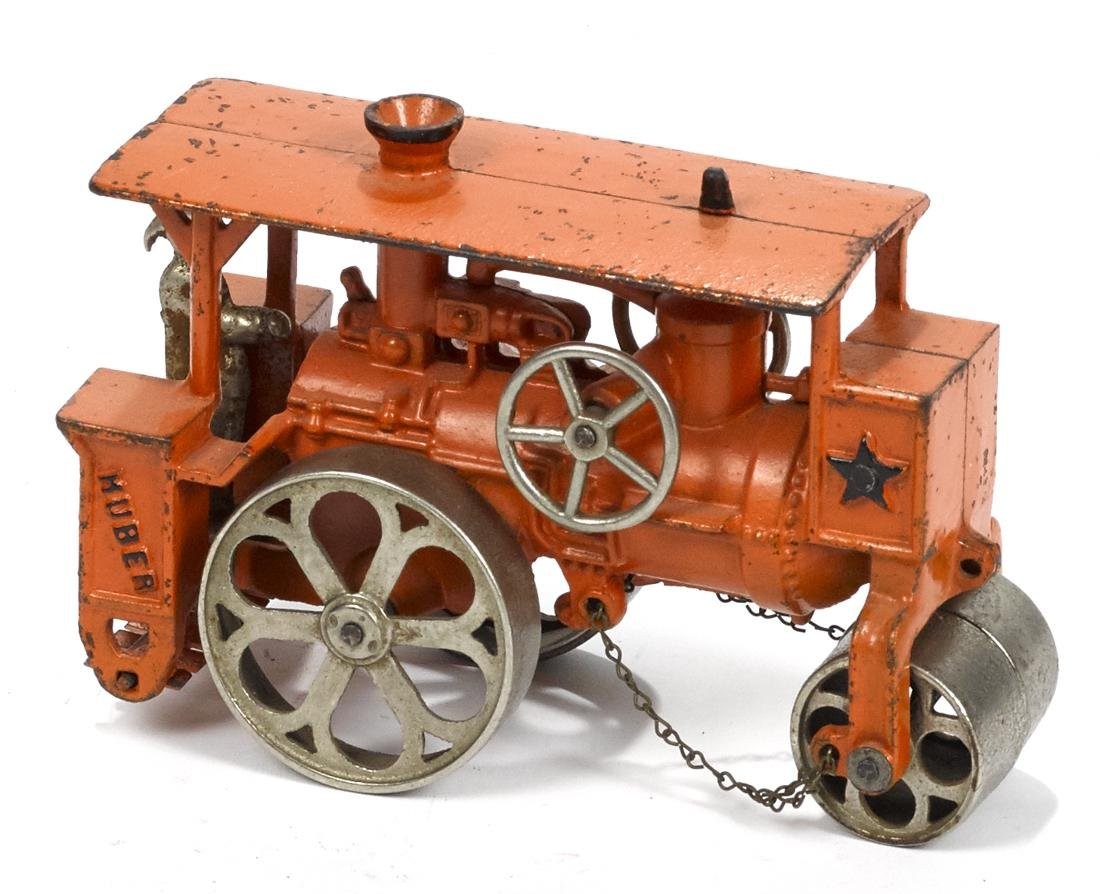 Hubley cast iron Huber road roller with a nickel-plated