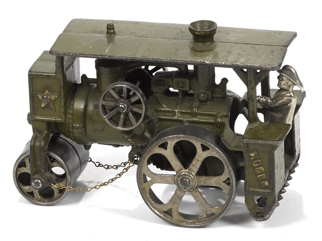 Hubley cast iron Huber road roller with a nickel-plated - 2