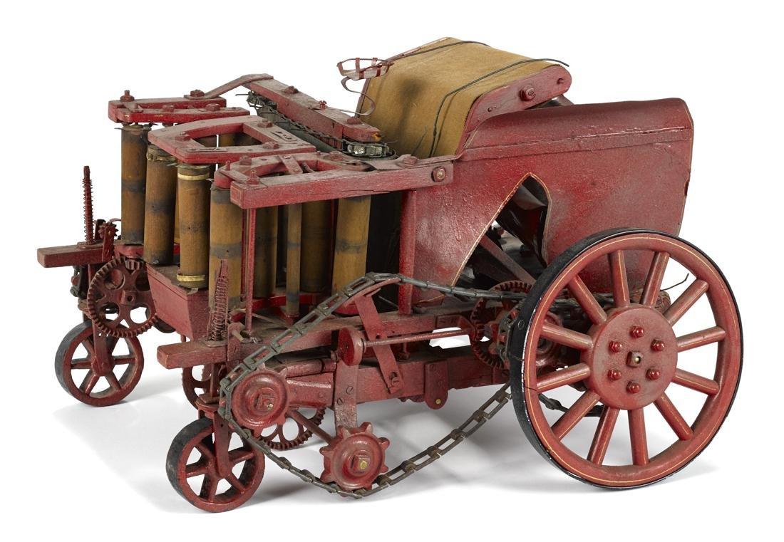 Unusual Craftsman made farm harvesting machine,
