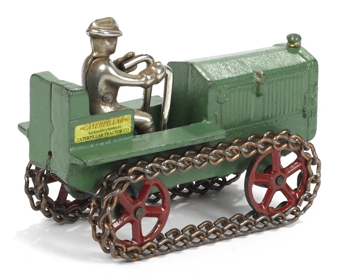 Arcade cast iron Caterpillar 10 tractor - 2