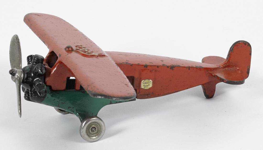 Rare Vindex cast iron Fokker airplane with a