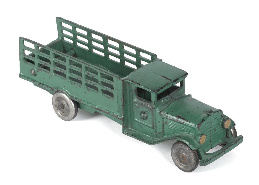 Scarce Vindex cast iron stake truck, 8'' l.