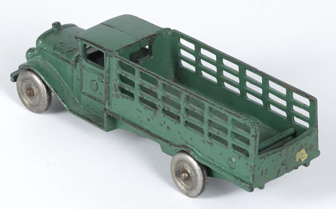 Scarce Vindex cast iron stake truck, 8'' l. - 2