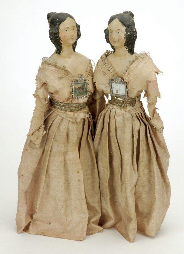 1: Twin Papier Mache Milliner Models