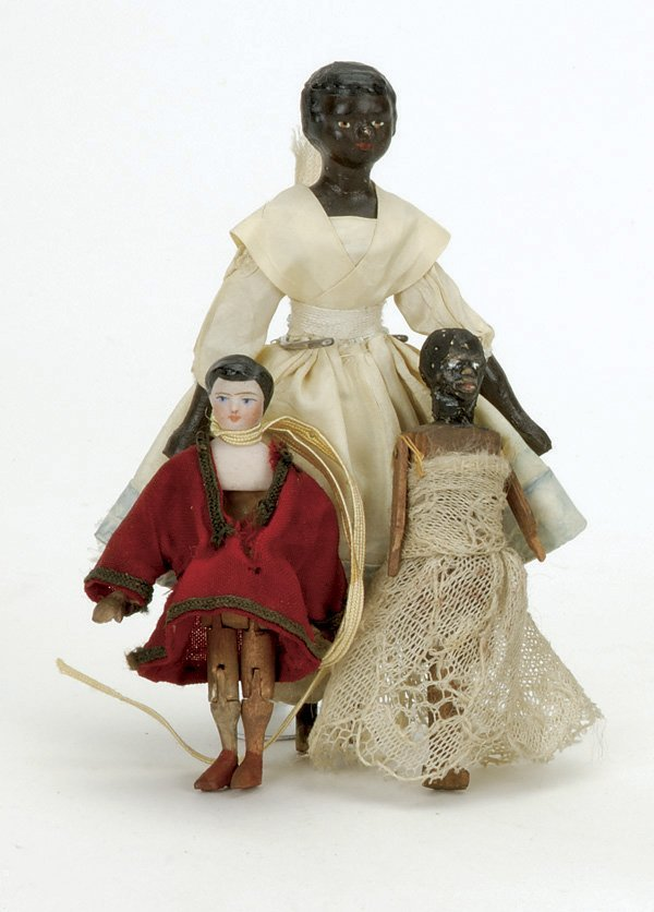 3: Lot: 3 Early Small Dolls