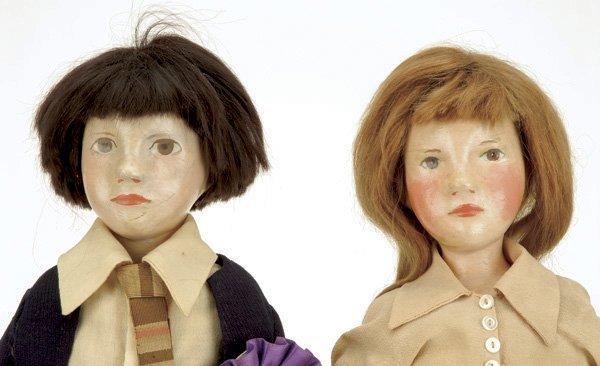 221: Pair of Rare English Pomona Art Dolls