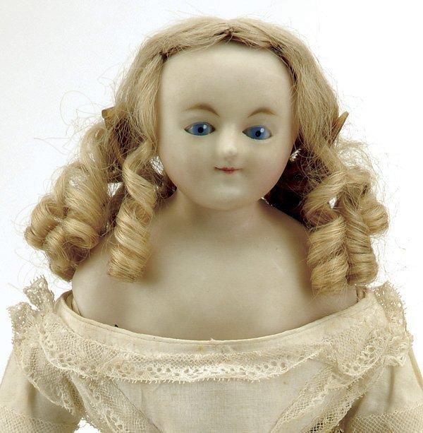 643: Early English Wax Doll with Sleep Eyes