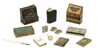 721 Lot Miniature Books and Writing Accessories