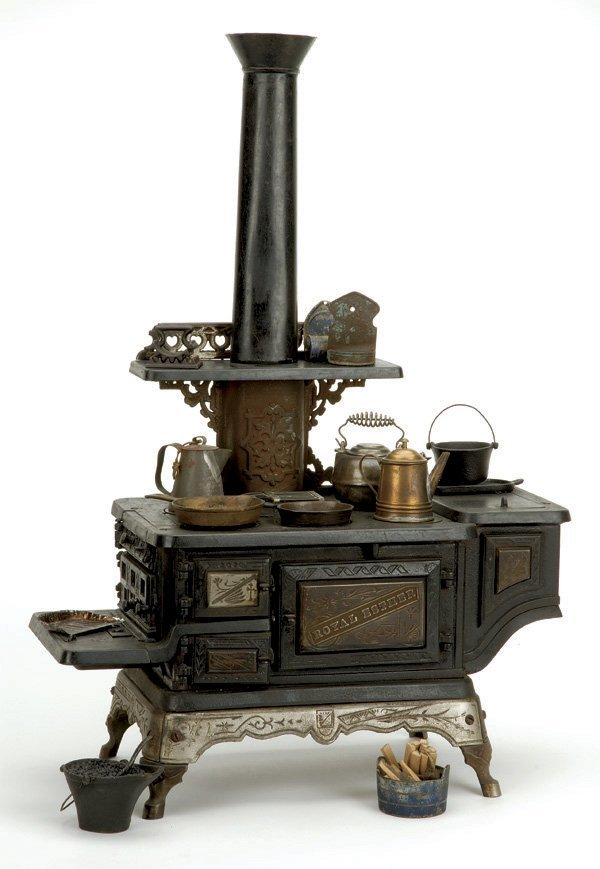 880: Mt. Penn Stove Works Cast Iron Stove with Accessor