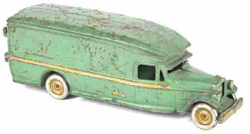 Arcade cast iron White moving van
