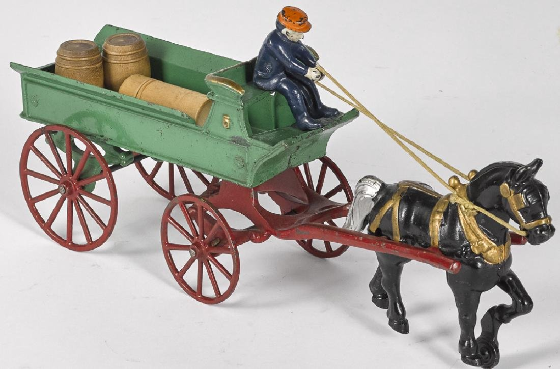 Kenton cast iron horse drawn delivery wagon