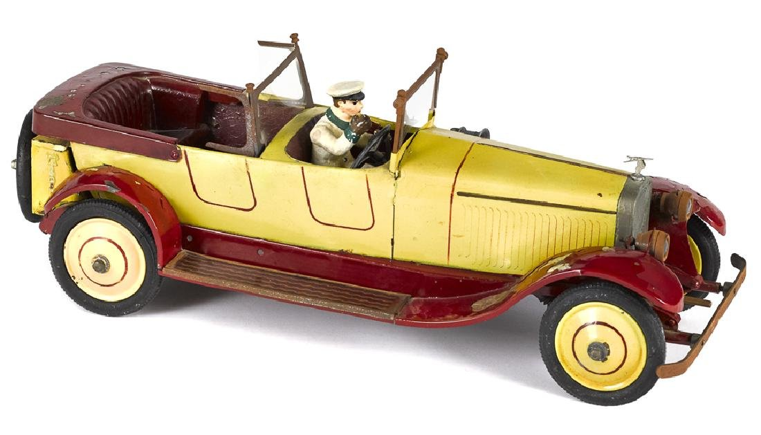 French Jep tinplate clockwork touring car