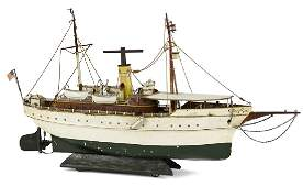 Exceptional Marklin Jolanda clockwork river boat