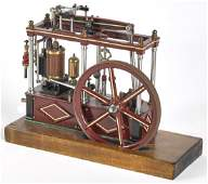 Cast iron live steam scale model beam engine