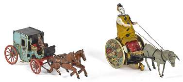 Two tin wind-up toys
