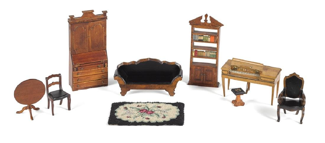 Tynietoy Wood Doll House Victorian Furniture
