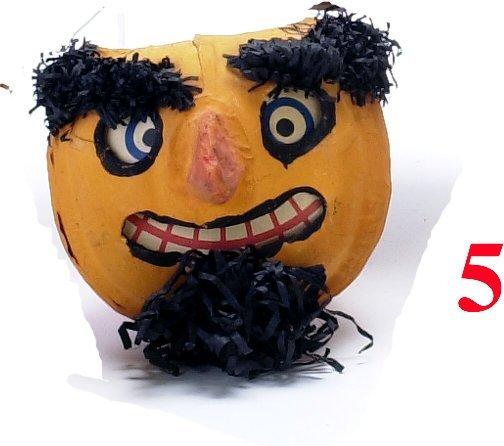 5: Jack-O'-Lantern with goatee