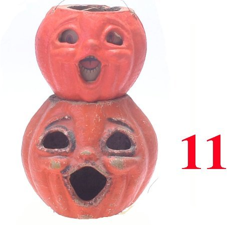 11: Lot: Double Faced and Singing Jack-O'-Lan