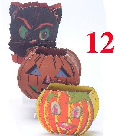 12: Lot: 3 Cardboard Lanterns