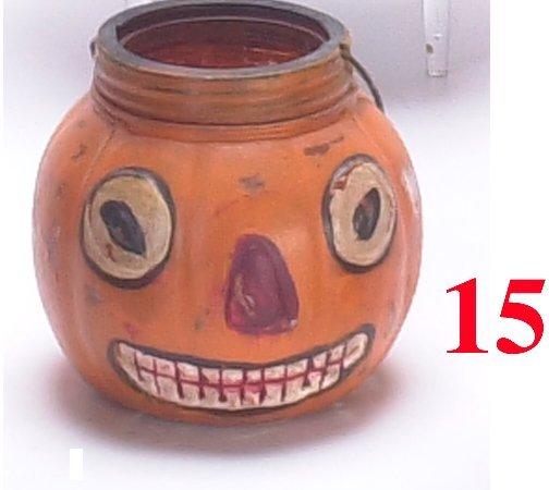 15: Painted Glass Jack-O'-Lantern