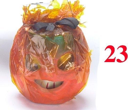 23: Small Jack-O'-Lantern in Cellophane