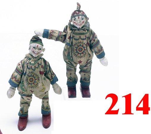 "214: Lot: 2 Schoenhut Clowns in ""sunburst"" su"
