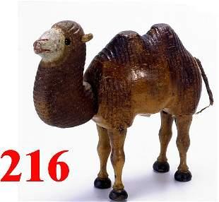 Schoenhut Bactrian Camel with Glass Eyes