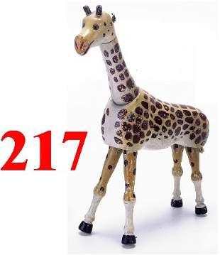 Schoenhut Giraffe with Glass Eyes