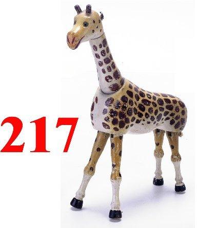 217: Schoenhut Giraffe with Glass Eyes