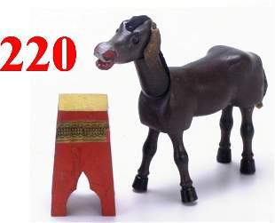 Schoenhut Donkey with Glass Eyes & Pedes