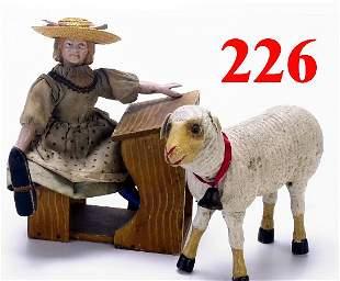 Schoenhut Mary & Her Lamb with Desk