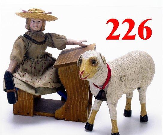 226: Schoenhut Mary & Her Lamb with Desk