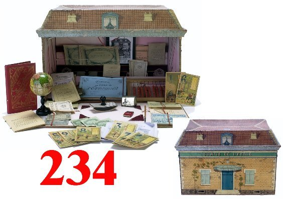 234: French School Building Play Set