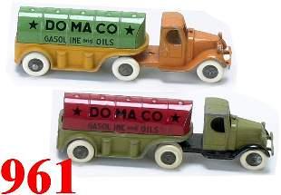 Lot: 2 Tootsietoy Domaco Oil trucks