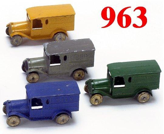 963: Lot: 4 Tootsietoy Federal Trucks