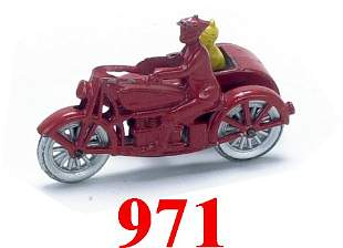 Tootsietoy Smitty & Herby Motorcycle