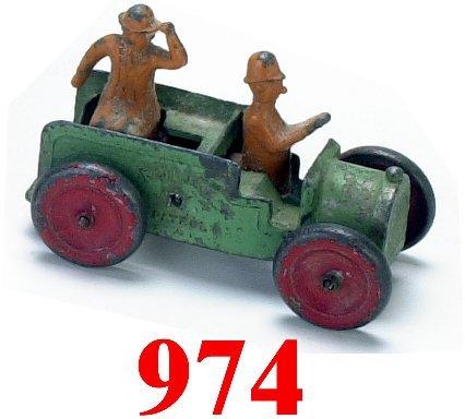 974: Tootsietoy Moon Mullins Police Wagon