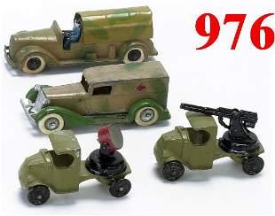 Lot: 4 Tootsietoy Military Vehicles