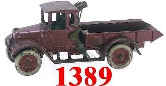1389: Arcade Red Baby Dump Truck