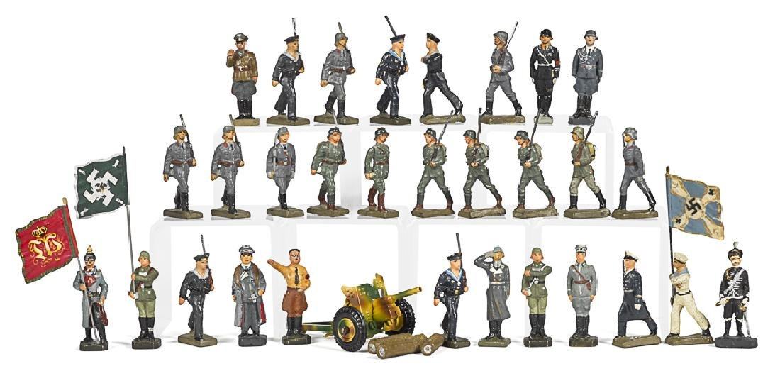Lineol painted composition military figures