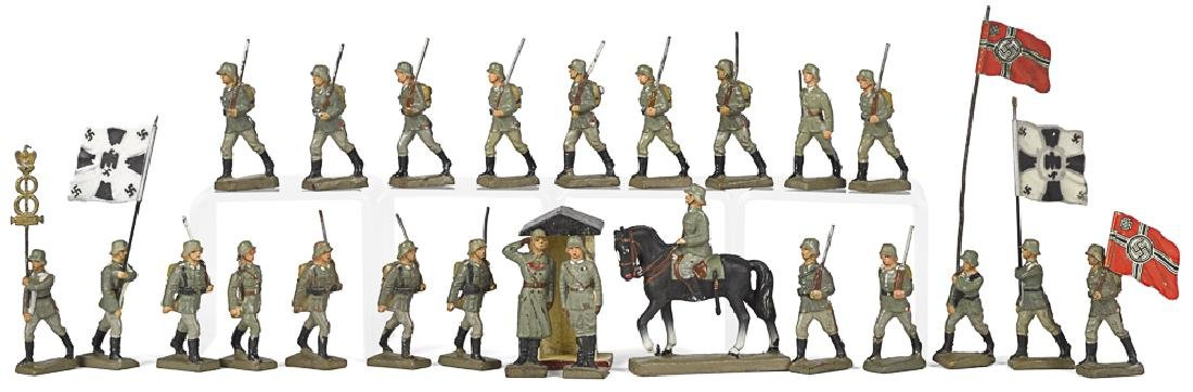 Lineol composition marching parade figures