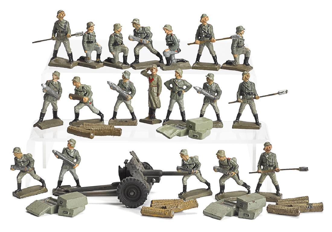 Lineol composition artillery soldiers