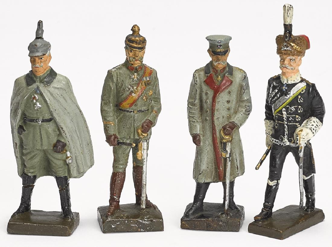 Lineol painted composition personality soldiers