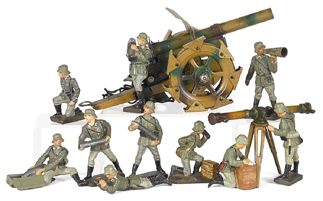 Lineol camouflage painted soldiers